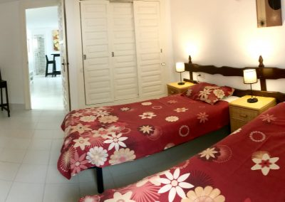 The Studio bedroom (single bed + double bed + extra bed)