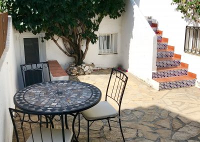 Casa Solbritt has its own garden at 43 sqm with new Spanish inspired garden furniture that residents in both the house and the studio can enjoy.